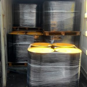 MC-30 bitumen in steel drums in a container